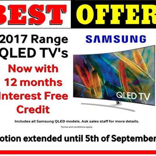 2017 range on interest free QLED