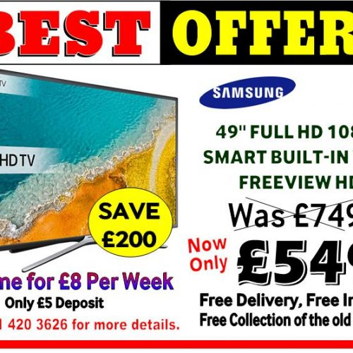 Samsung 49 Inch Full HD Smart Wi-Fi now at £549
