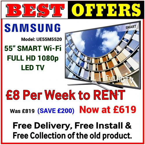 8 Pound to RENT 55Inch Smart LED TV