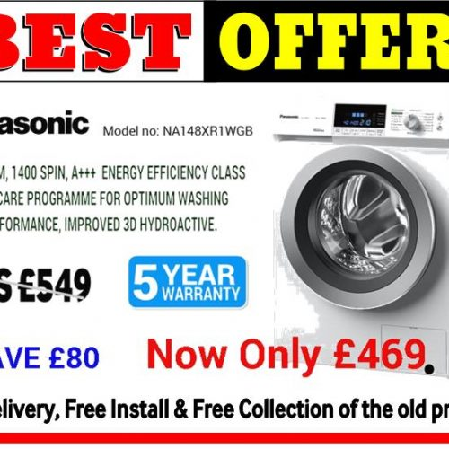 Panasonic 8KG Washer A+++ Rated Offer 1 (NA148XR1WGB)
